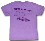 Back To The Future T-Shirt Delorean Purple Heather Tee Shirt