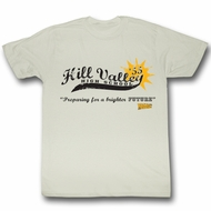 Back To The Future T-Shirt – Hill Valley High 55 Dirty White Shirt