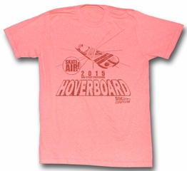 Back To The Future T-Shirt Hoverboard 2015 Peach Heather Adult Tee Shirt