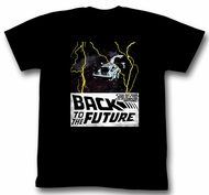 Back To The Future T-Shirt In Space Black Adult Tee Shirt