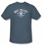 Back To The Future T-shirt Movie Hill Valley 1955 Adult Slate Shirt