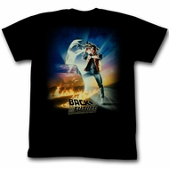 Back To The Future T-shirt Movie Poster Adult Black Tee Shirt