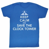 Back To The Future T-Shirt Movie Saves the Day Adult Royal Blue Shirt