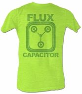 Back To The Future T-Shirt – Neon Flux Neon Mint Heather Adult Tee Shirt