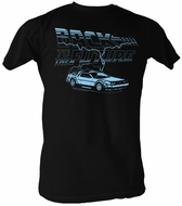 Back To The Future T-Shirt – Ride The Lightning Black Adult Tee Shirt