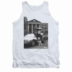 Back To The Future Tank Top Einstein White Tanktop