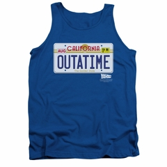 Back To The Future Tank Top Outatime Royal Blue Tanktop