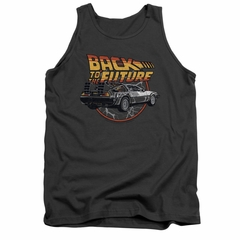 Back To The Future Tank Top Time Machine Charcoal Tanktop