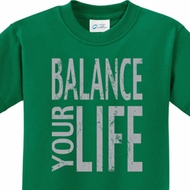 Balance Your Life Kids Yoga Shirts