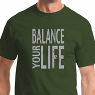 Balance Your Life Mens Yoga Shirts