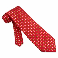 Baseballs Gloves Tie Red Silk Necktie � Mens Sports Neck Tie