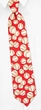 Baseballs Tie Red Microfiber Necktie – Mens Sports Neck Tie