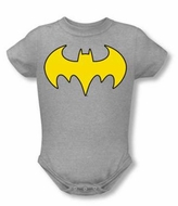 Batgirl Baby Romper Logo DC Comics Athletic Heather  Infant Creeper