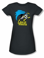 Batgirl Juniors T-shirt - Batgirl Is Hot DC Comics Charcoal Gray