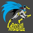 Batgirl T-shirt - Batgirl Is Hot DC Comics Adult Charcoal Gray Tee