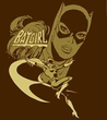 Batgirl T-shirt - DC Comics Flying Batgirl Adult Brown Tee