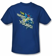 Batgirl T-shirt � The Night Is Young DC Comics Adult Royal Blue Tee