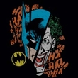 Batman And Robin T-shirt  - Broken Visage DC Comics Adult Black