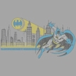 Batman And Robin T-shirt  - Gotham Retro DC Comics Adult Silver