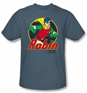 Batman And Robin T-shirt  - The Boy Wonder DC Comics Adult Slate