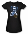 Batman Juniors T-Shirt - Arkham City Harley Quinn Black Tee