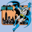 Batman Juniors T-Shirt - Batman In The City Light Blue Tee