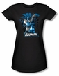 Batman Juniors T-Shirt - Blue and Grey Black Tee