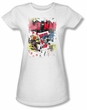 Batman Juniors T-Shirt - Number 11 Distressed White Tee