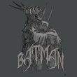 Batman Juniors T-Shirt - Scary Right Hand Charcoal Tee