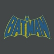 Batman Juniors T-Shirt - Sketch Logo Charcoal Tee