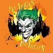 Batman Kids T-Shirt - All Tricks No Treats Youth Orange Tee