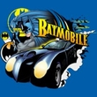 Batman Kids T-Shirt - Batmobile Youth Royal Blue Tee