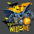 Batman Kids T-Shirt - Bats Welcome Youth Charcoal Tee