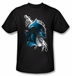 Batman Kids T-Shirt - Crazy Grin Youth Charcoal Tee
