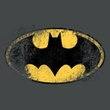 Batman Kids T-Shirt - Destroyed Logo Youth Charcoal Tee