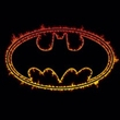 Batman Kids T-Shirt - Flame Outlined Logo Youth Black Tee