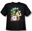 Batman Kids T-Shirt - It's All A Joke Youth Black Tee