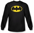 Batman Long Sleeve T-Shirt - Classic Logo Black