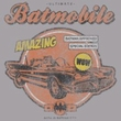 Batman Ringer T-Shirt - Amazing Batmobile Adult Heather/Black Tee