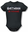 Batman Romper - Batman In Training Black Infant Creeper