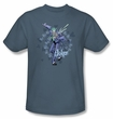Batman T-Shirt - Acid Spiral Adult Slate Tee