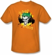 Batman T-Shirt - All Tricks No Treats Adult Orange Tee