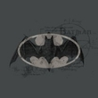 Batman T-Shirt - Arcane Bat Logo Adult Charcoal Gray Tee
