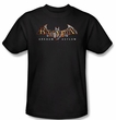 Batman T-shirt - Arkham Asylum Logo Adult Black