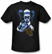 Batman T-Shirt - Arkham Harley Quinn Adult Black