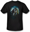 Batman T-Shirt - Bat Cave Adult Black Tee