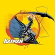 Batman T-Shirt - Batarang Shot Adult Yellow Tee