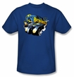 Batman T-Shirt - Batmobile 2 Adult Royal Blue Tee