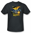 Batman T-Shirt - Bats Welcome Adult Charcoal Tee
