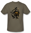 Batman T-Shirt - Be Afraid Adult Khaki Tee